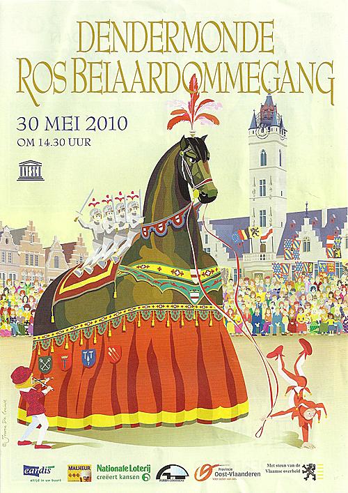 Flyer van De Ros Beiaardommegang van 2010